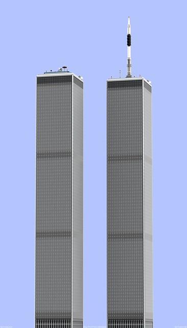 LEGO World Trade Center - The Twin Towers - 9/11 Tribute MOC