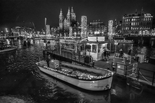 A night in the city of Amsterdam