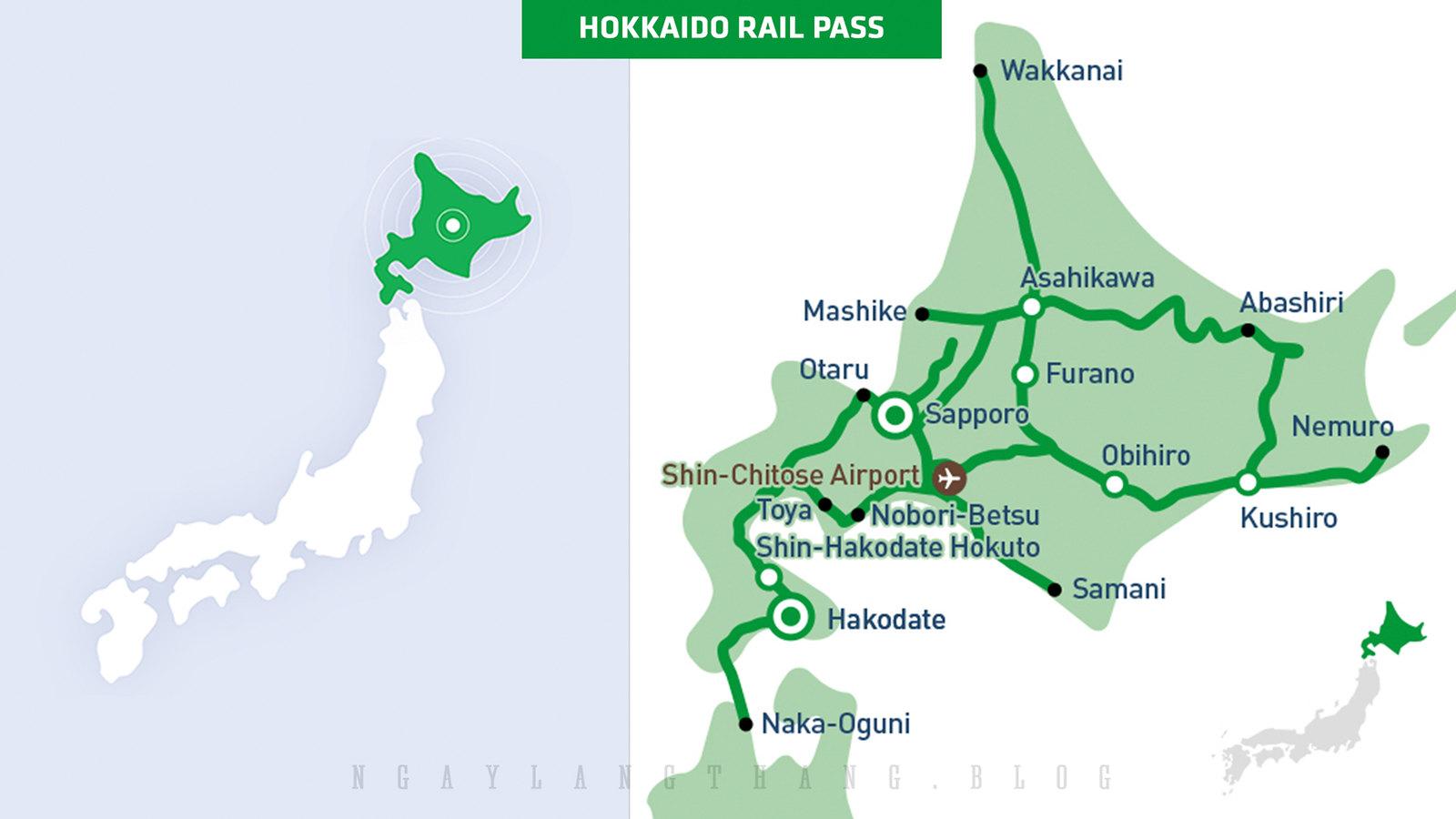JR Pass ở Hokkaido -ngaylangthang