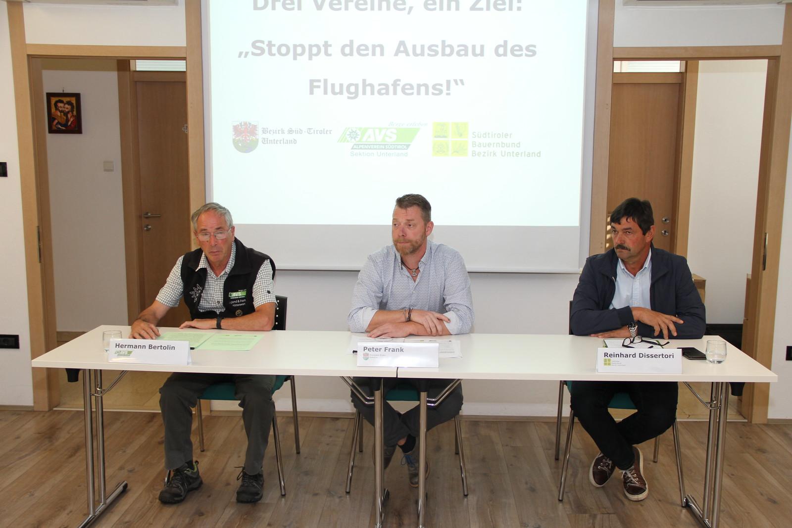 Pressekonferenz gegen den Ausbau des Flughafens, 12.09.2019