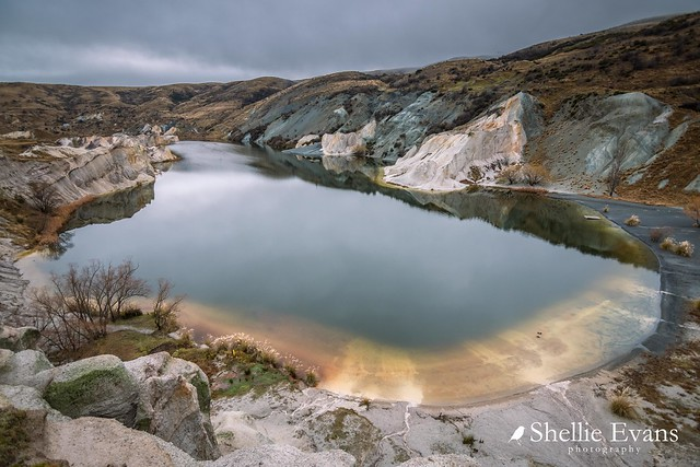 The Blue Lake, St Bathans, Central Otago, New Zealand
