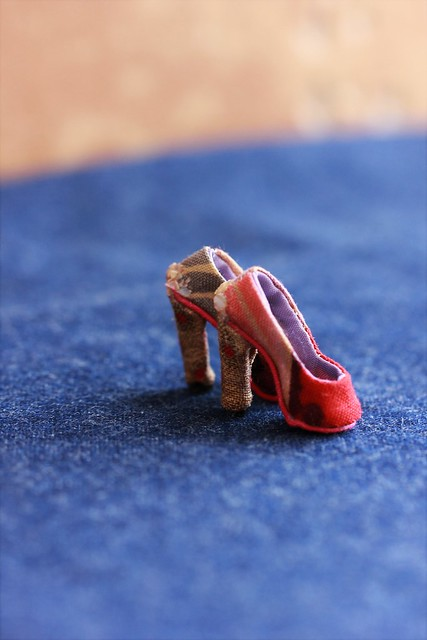 OOAK handmade shoes for FR2 doll
