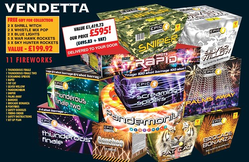 NEW FOR 2019 - Vendetta DIY Firework Barrage Pack