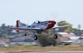 """N.A. P-51D Mustang """"Blondie/SPARKY"""" S/n.44-72777 NL151D"""
