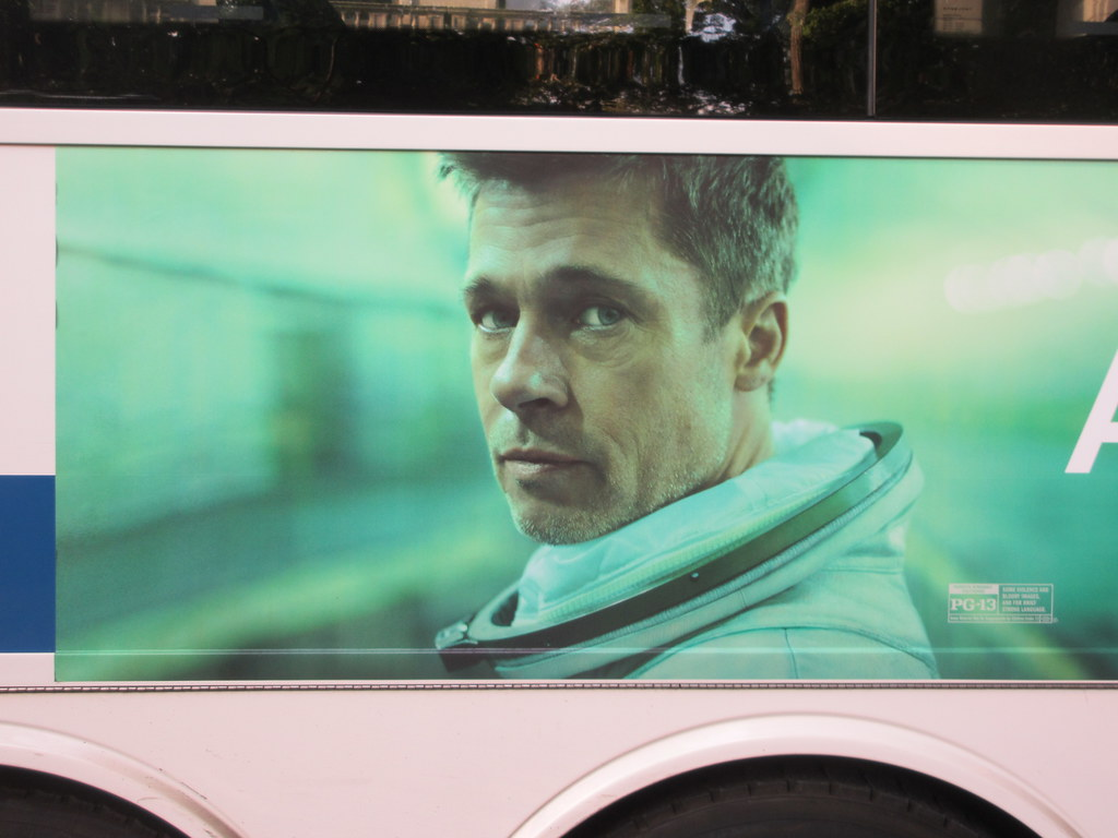 2019 Ad Astra Brad Pitt space film Bus Billboard AD 0884