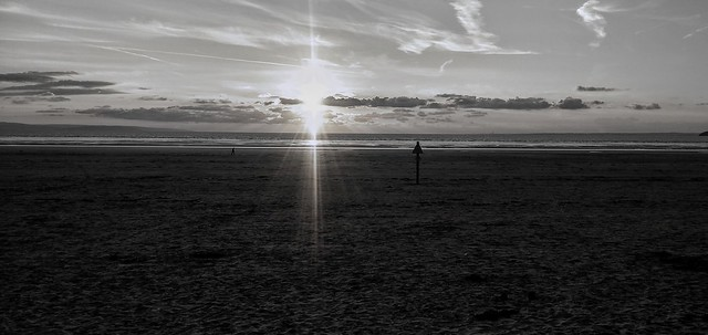 Sunset Brean Sands