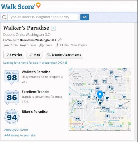 WalkScore for Dupont Circle
