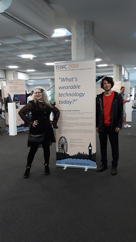 12th Annual ISWC 2019 Design Exhibition, featuring wearable technology  and e-textiles curated by Oscar Tomico and myself. Held at QEII Centre, Westminster, London
