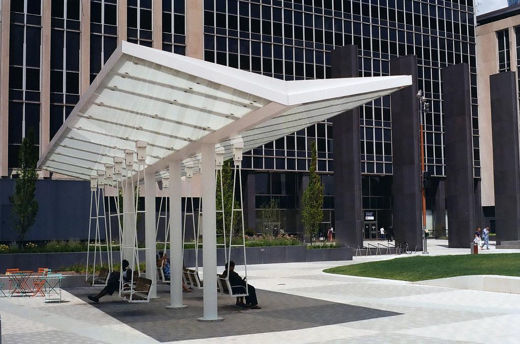 Swings at Lugar Plaza
