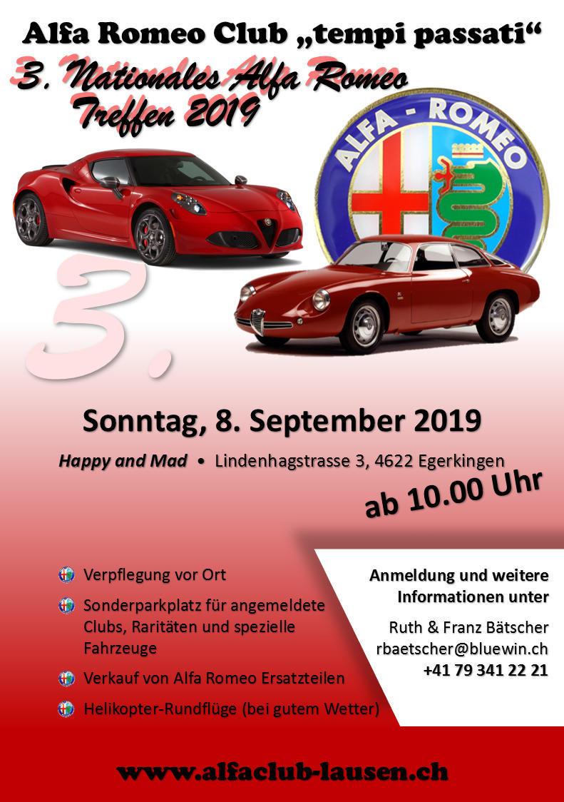 2019-09-08 Alfa Club 3. Nat. Alfa Romeo Treffen