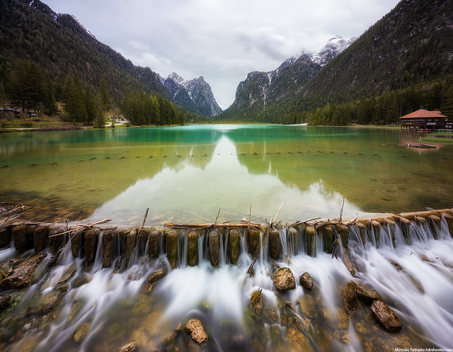 Cloudy reflection at the Lago di Dabiago