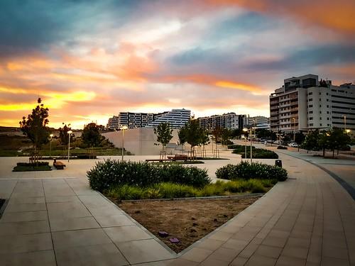 bonsailara1 valdebebas barrio neighborhood sunset atardecer crepúsculos madrid españa spain