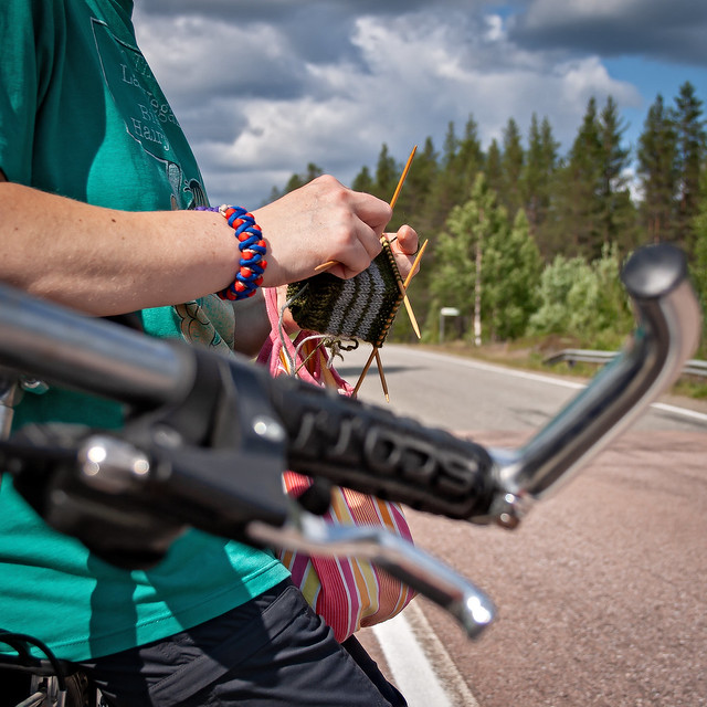 Knitting and cycling