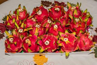 Harvest of 18 Dragonfruits!