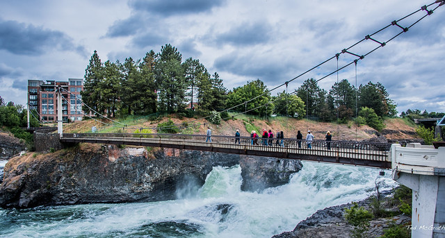 2019 - Road Trip - 13 - Spokane Riverfront Park - Canada Island Bridge