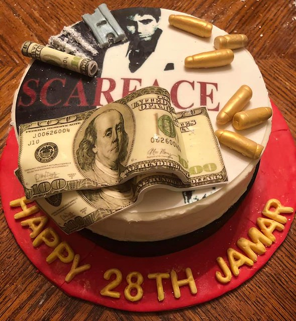 Scarface Themed Birthday Cake by Mary Sue Boyd