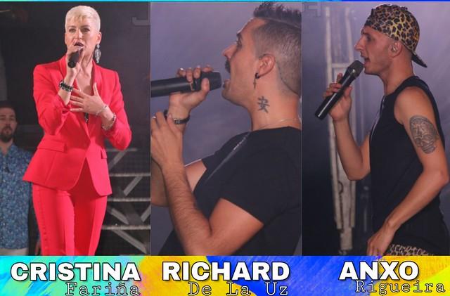 Cristina, Richard y Anxo