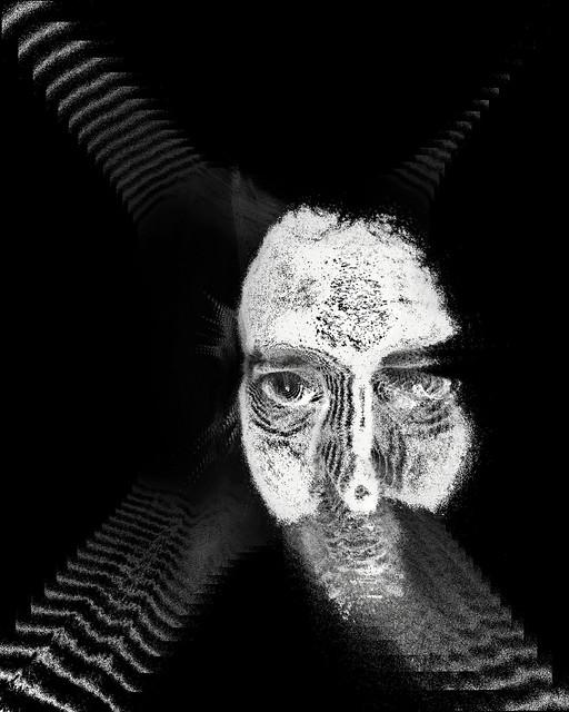 Distorsión creada a partir del autorretrato