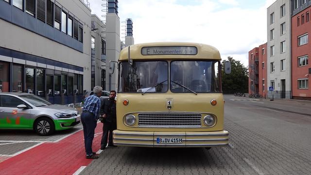 1964 Heuler genannter Ein-Deck-Bus Büssing E2U von Orenstein & Koppel in Berlin BVG-Nr. 415 Ringbahnstraße 88 in 12103 Berlin-Tempelhof