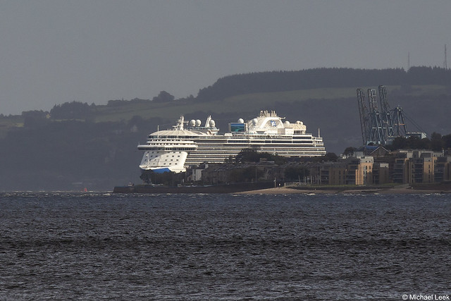 Princess Cruises Royal-class cruise ship MS Regal Princess, IMO 9584724; Greenock, Firth of Clyde, Scotland