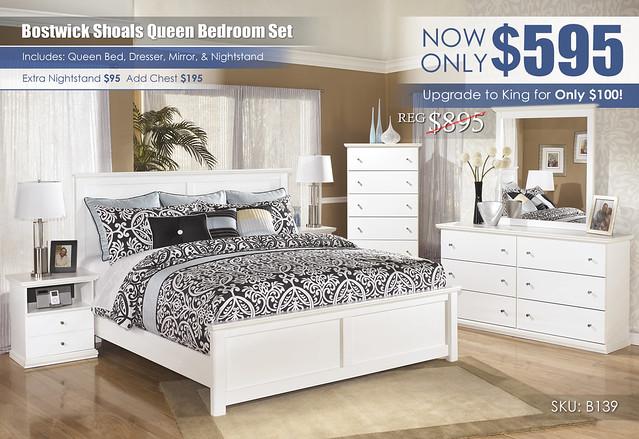 Bostwick Shoals Queen Bedroom Set_B139-31-36-46-58-56-97-91-SD