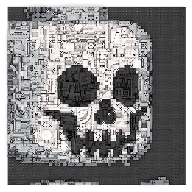 Lego Skeleton Face Greeble Mosaic