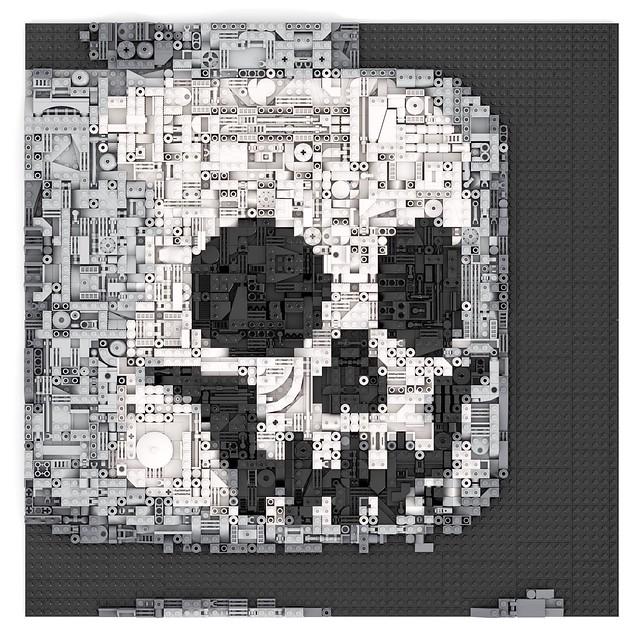 Lego Skeleton Face Greeble Mosaic