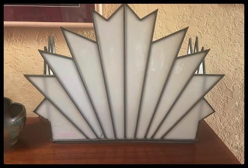 My-Mom's > Art-Deco-Glass Barber-Shop-Light-Fixture.........