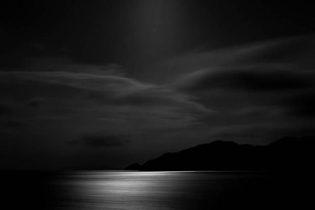 moon over Lake Biwa