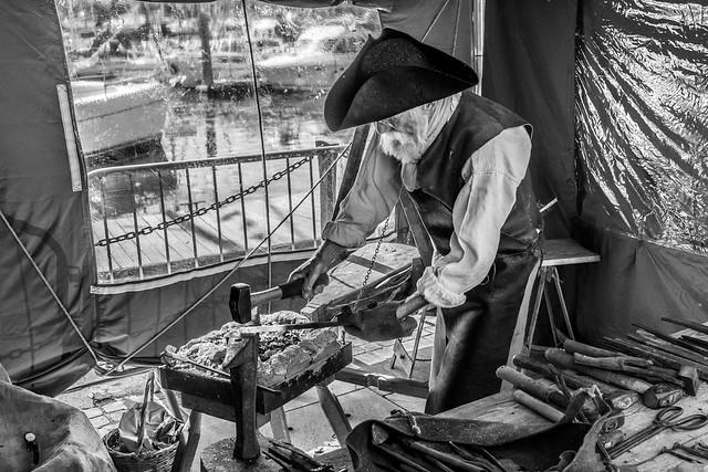 Nail maker, Ipswich Waterfront festival 2019
