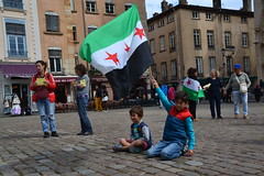 against the massacres of civilians in Syria