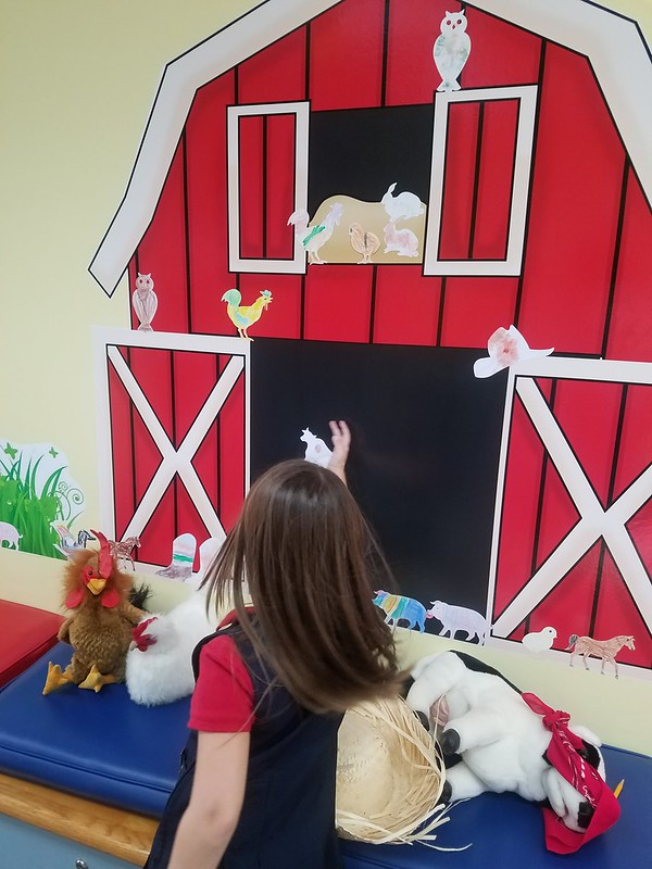 Farm play in the Discover, Learn, and Grow Room