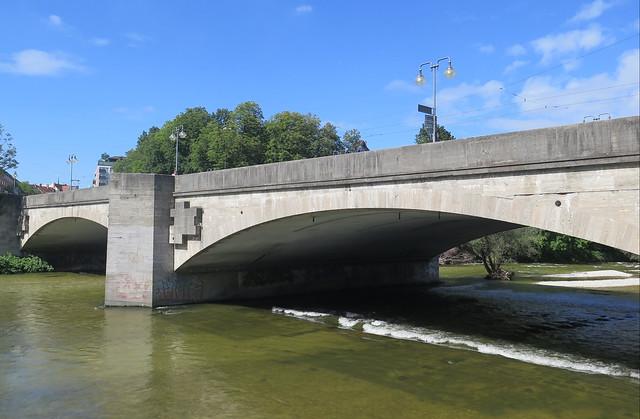 Munich, pont Louis (äussere Ludwigsbrücke)