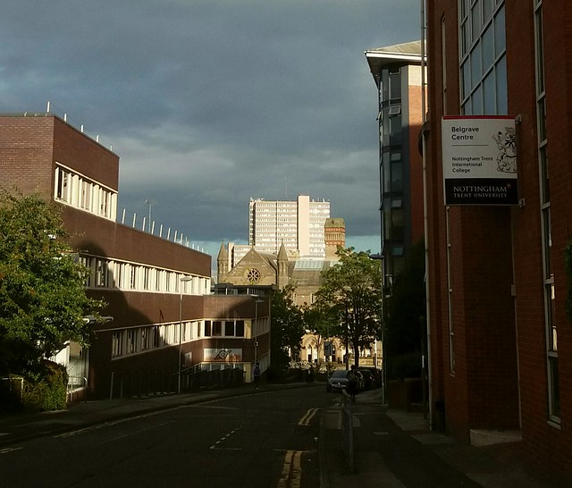 Nottingham in late afternoon light.