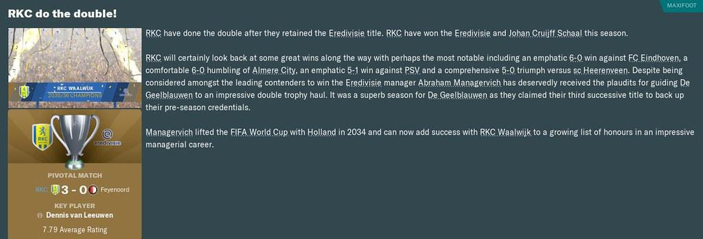 2036 eredivisie win