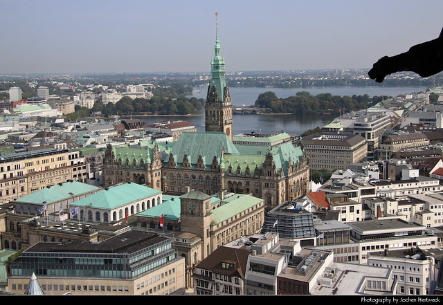 View from Nikolaikirche, Hamburg, Germany