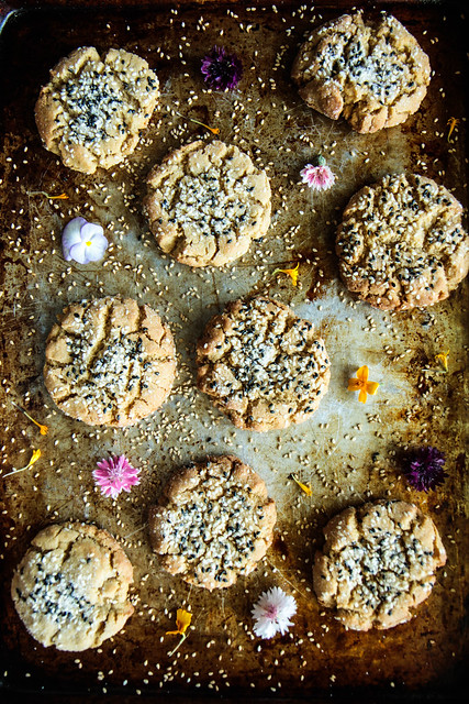 Tahini Cookies (gluten-free and Vegan) from HeatherChristo.com
