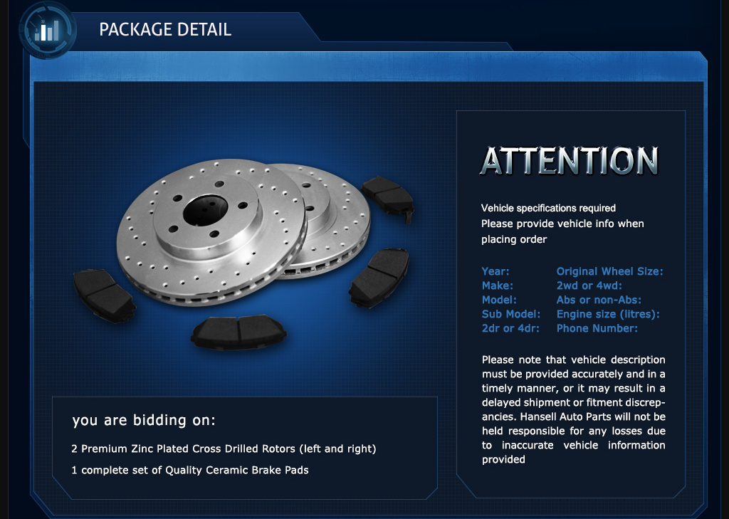 Front Drill/&Slot Brake Rotors Ceramic Pad Fit 13-15 Ford Escape w//320mm Rotor
