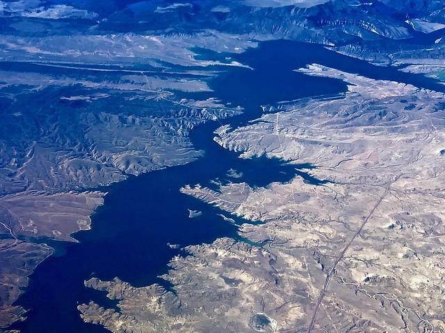 Aerial View of Reservoir:  Denver, Colorado to Portland, Oregon