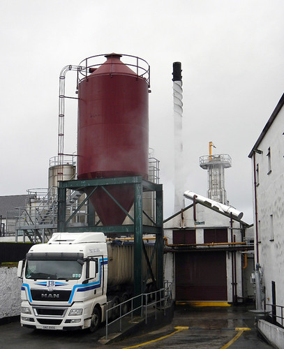 A Bushmills truck at the loading bay of their whiskey distillery in Ireland, UK