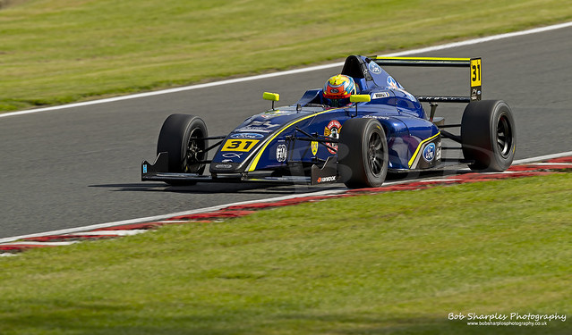 Formula 4 British Championship Practice Session 2 at Oulton Park