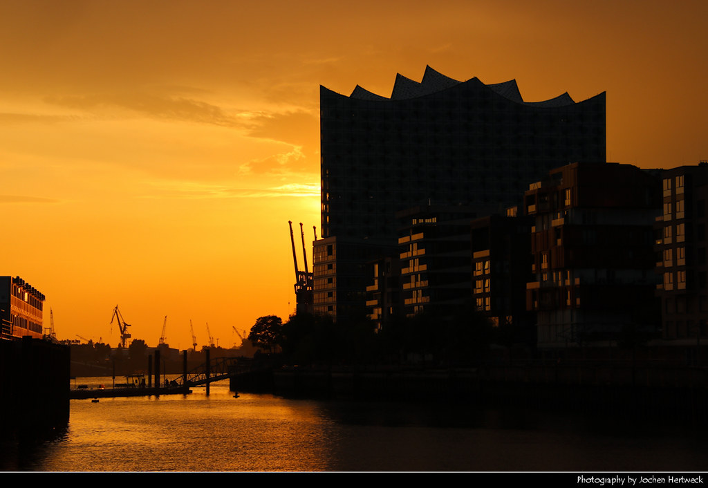 Elbphilharmonie & HafenCity at Sunset, Hamburg, Germany