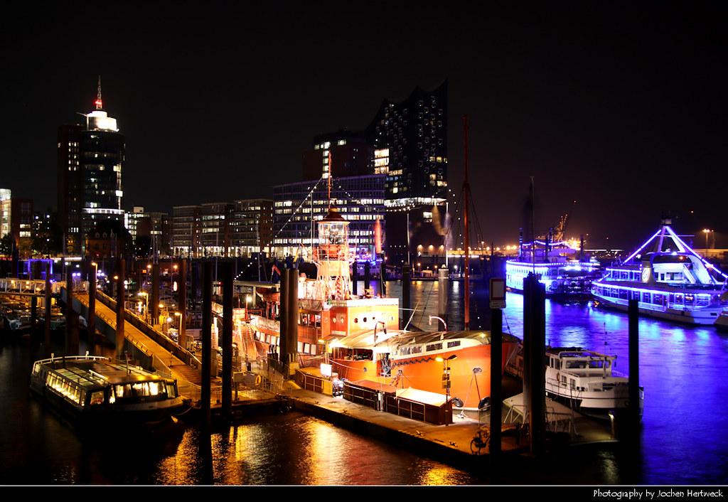 View from Elbpromenade, Hamburg, Germany