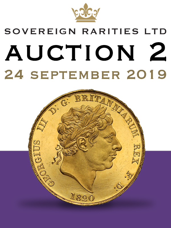 Sovereign Rariries E-Sylum ad 2019-09-15 Auction 2