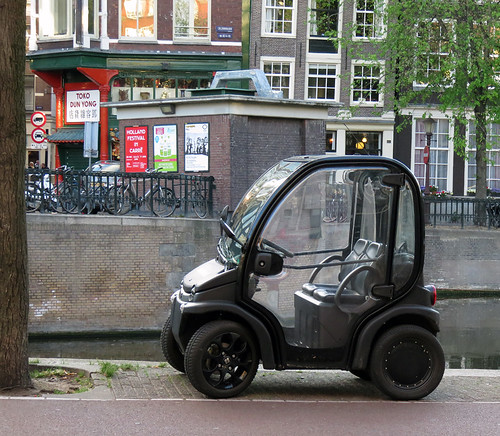 A tiny city car in Amsterdam, Holland