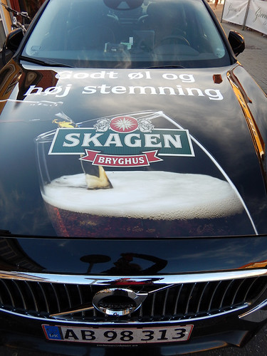 A Skagen Bryghus (brewery) beer car in Skagen, Denmark