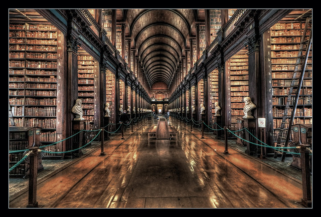 Dublin IR - The Long Room Of The Old Library At Trinity College 03