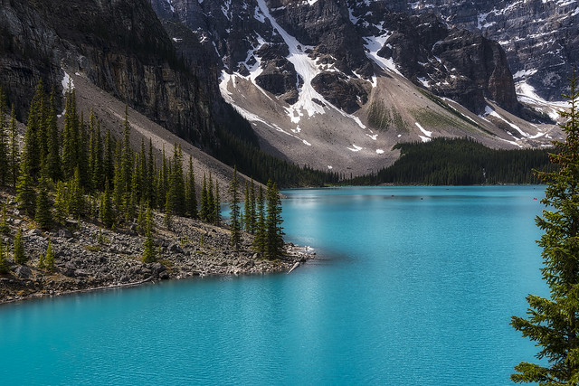 The Beauty of Moraine Lake, Banff National Park, Alberta, Canada