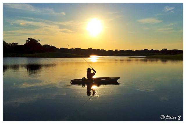 Sunset fishing Heathrow lake Florida -38