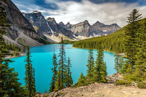 Moraine Blue Lake Banff Mountain Landscape Canada